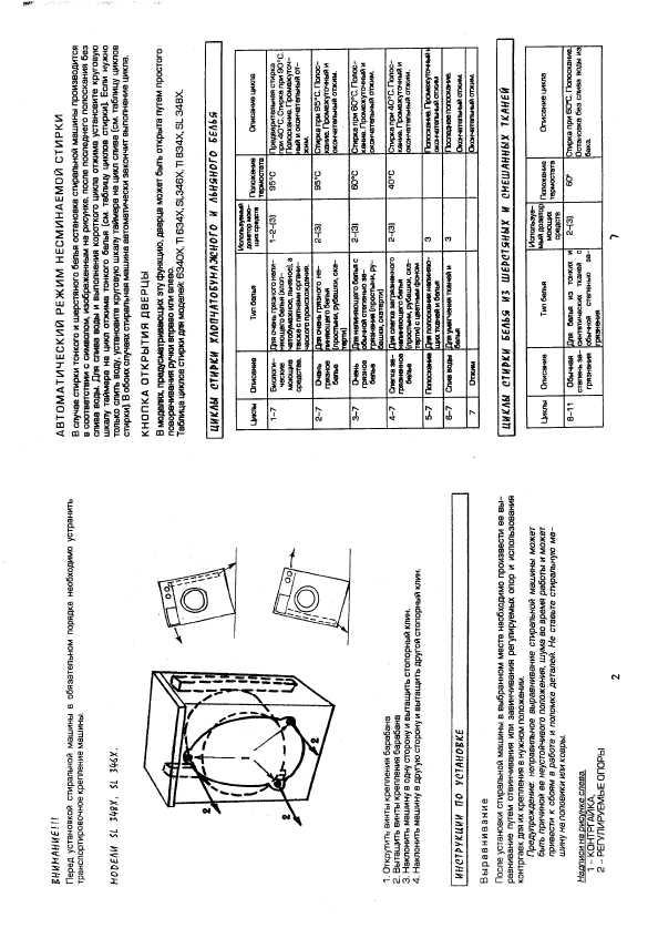 стиральная машина reeson sl346x инструкция по применению