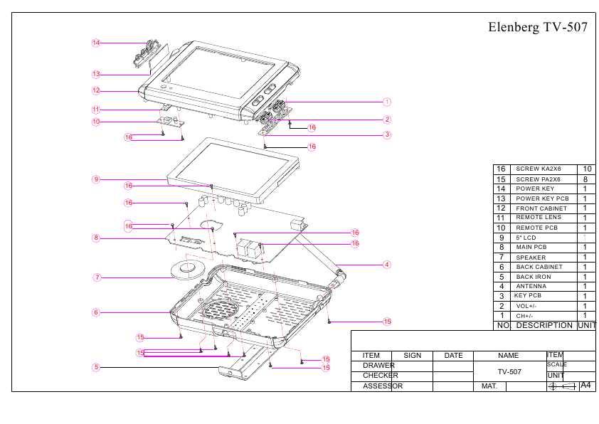 инструкция Elenberg TV-507