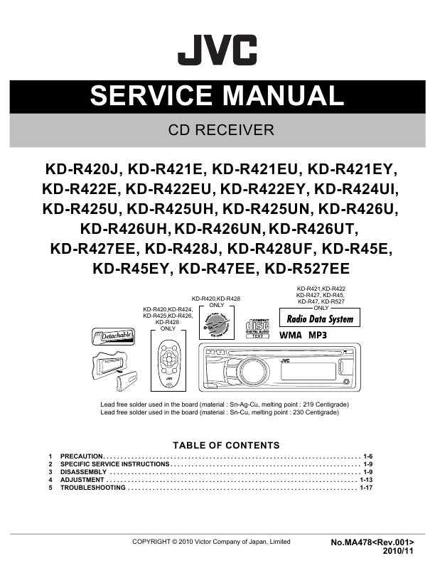 Jvc Kd R422 Инструкция