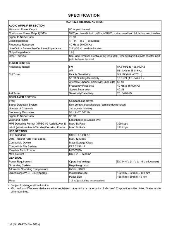 Инструкция к автомагнитоле jvc kd-r527/kd-r427/kd-r47 (руководство.